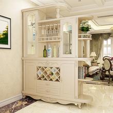 (小)户型wa木间厅柜隔ap面客厅屏风酒柜中式进门厅柜玄关柜