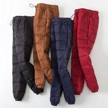冬季反季加厚羽绒wa5裤女外穿ap修身大码运动休闲保暖棉裤
