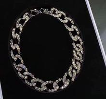潮牌博wc网红满钻链cw夸张短式钻石颈链女欧美时髦亮钻CHOKER
