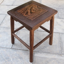 鸡翅木wc凳实木(小)凳cw花架换鞋凳红木凳独凳家用仿古凳子