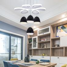 北欧创we简约现代Lde厅灯吊灯书房饭桌咖啡厅吧台卧室圆形灯具