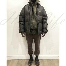HIGweLIFE2de冬季新式男鸭绒服女保暖厚国潮情侣厚休闲黑色