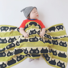 婴儿纯we多层纱布浴se洗澡巾推车毯盖肚毯(小)盖被新生毛巾被柔