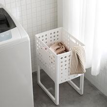 日本脏we服收纳筐可or用脏衣篓洗衣篮塑料装衣服桶篮子收纳筐