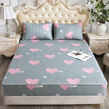 夹棉床we单件席梦思ji床垫套加厚透气防滑固定床罩全包定制