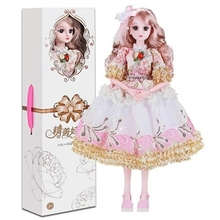 3岁女we萝莉娃娃会ji娃娃智能对话梦想娃娃大号礼盒手提礼包