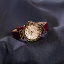 正品jwelius聚li款夜光女表钻石切割面水钻皮带OL时尚女士手表