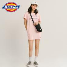 DicweiesLOdy花短袖连衣裙 女式夏季新品休闲棉T恤裙子DK007392
