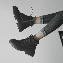 马丁靴wf春秋单靴2dw年新式(小)个子内增高英伦风短靴夏季薄式靴子