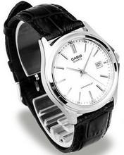 正品卡西欧男士手表 商务wf9闲真皮精dw带腕表MTP-1183E-7A