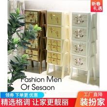 斗柜实wf柜子整装收qj园客厅简约现代储物柜欧式创意自由组合