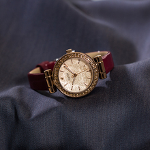 正品jwflius聚qj款夜光女表钻石切割面水钻皮带OL时尚女士手表