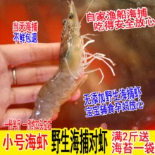 (小)号野wf新鲜活虾对wg虾海虾青虾鲜活海鲜4斤包邮 水产