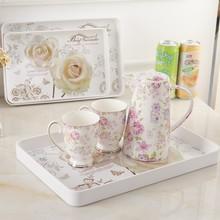 加厚茶wf长方形快餐zr子密胺餐具杯子茶盘菜盘蛋糕盘