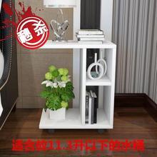 实用(小)wg几简约饮kl8动木茶几床桌滑轮可放有活动带轮子圆形