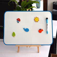 宝宝画wh板磁性双面ng宝宝玩具绘画涂鸦可擦(小)白板挂式支架式