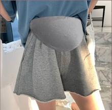 网红孕妇裙裤wh季纯棉打底re斤超大码宽松阔腿托腹休闲运动短裤