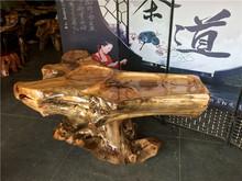 瘤疤树wh茶台根雕茶jt茶几原木老树头功夫茶艺阳台家用经济型