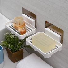 双层沥水wh皂盒强力吸sh款创意卫生间浴室免打孔置物架