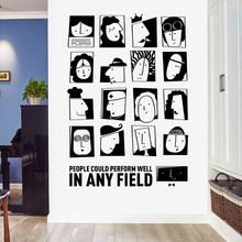 创意个wh卧室墙纸自yq背景墙贴画网红房间布置墙面装饰贴纸柜