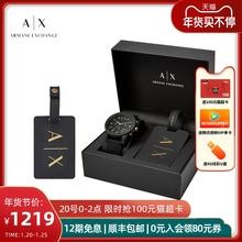Armwhni阿玛尼sp舰店正品手表男黑武士十大牌礼盒情侣式AX7105