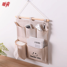 收纳袋wh袋强挂式储sp布艺挂兜门后悬挂储物袋多层壁挂整理袋