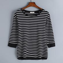 中老年女装2021新款春装(小)衫中年长wh15T恤妈gq七分袖上衣