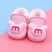 婴儿鞋wi0-1岁新bl前学步鞋软底男宝宝棉鞋女6个月(小)童雪地靴