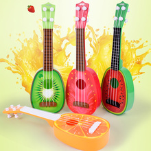 创意儿wi水果吉他玩ng里里仿真(小)吉他乐器玩具批发地摊货热卖
