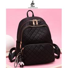 牛津布wi肩包女20df式韩款潮时尚时尚百搭书包帆布旅行背包女包