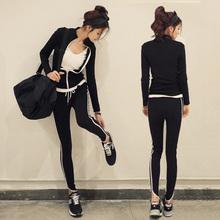 2021韩款时尚修身显瘦运动服休闲套wi15长袖两li秋女潮纯棉