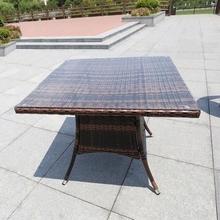 阳台(小)wi椅三件套组li休闲花园户外(小)茶几户外露天编藤桌椅子