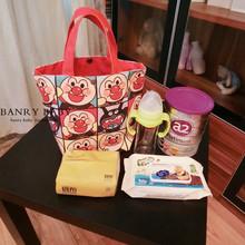 日本面wi超的多功能li大号便当包饭盒袋帆布妈咪包