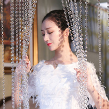 精品水晶珠帘门wi4客厅过道liTV酒店婚礼装饰帘子珠帘成品