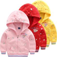女童春wi装上衣童装li式宝宝休闲外衣女宝宝休闲双层(小)熊外套