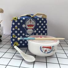 陶瓷保鲜碗带盖饭盒套装泡