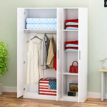 木质衣wi卧室衣橱2li衣柜3门大衣柜阳台简约板式定做