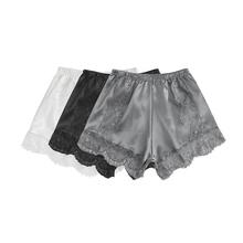 蕾丝花wi高腰平腿裤lr1年新式舒适提臀防走光短裤女安全裤打底裤