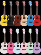尤克里wi女男初学者lr的学生21寸23寸乌克丽丽彩色全吉他木质