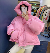 糖果色羽绒棉服外套女2019韩国冬季wi15款宽松lr色加厚棉衣