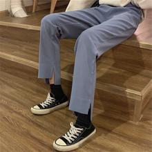 胖妹妹2020新式春夏装大码女装宽松wi15合胯大lr显瘦阔腿裤