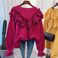韩国东大门时尚拼接蕾丝花