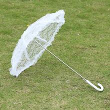 儿童款白色蕾丝伞舞台wi7演道具伞so公主宫廷伞花边伞工艺伞