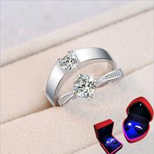 结婚戒指仿真钻戒一对情侣