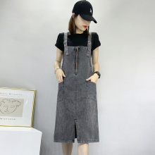 202wi夏季新式中es仔背带裙女大码连衣裙子减龄背心裙宽松显瘦