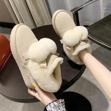 女式高wi雪地靴女棉es短靴东北冬季女鞋长筒靴保暖黑色时尚潮