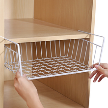 厨房橱wi下置物架大gs室宿舍衣柜收纳架柜子下隔层下挂篮