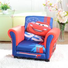 迪士尼wi童沙发可爱au宝沙发椅男宝式卡通汽车布艺