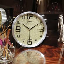 康巴丝wi波钟表客厅er室彩色创意金属静音三代智能挂表壁钟