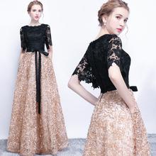 晚礼服wi2020新ar时尚显瘦聚会高贵优雅宴会演出主持的礼服裙